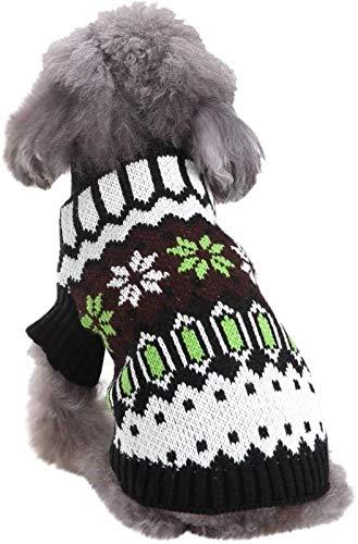 ccfgh Hundekleidung, Haustierpullover, Weihnachtspullover, Winter-Strickwaren, klassische Winterkleidung,...