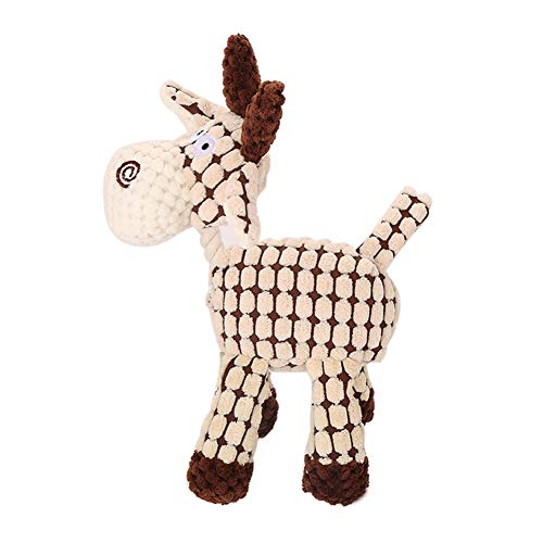 Hundespielzeug, Esel-Form, Quietschgeräusch, Quietschspielzeug für Hunde, Kauen, Beißen,...