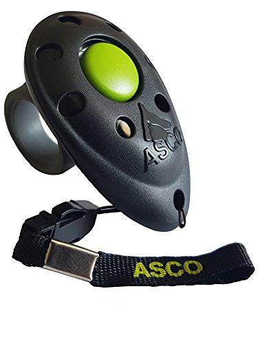ASCO Premium Clicker, Finger Clicker für Clickertraining, Hunde Katzen Pferde Profi Clicker,...