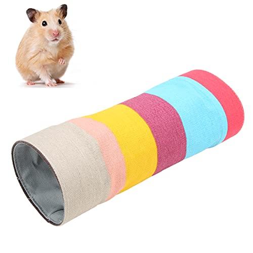 Pssopp Tunnelröhre Spielzeug für Ratten Hamster Spielzeug Hamsterkäfige Kleintierebett Röhren Tunnel...
