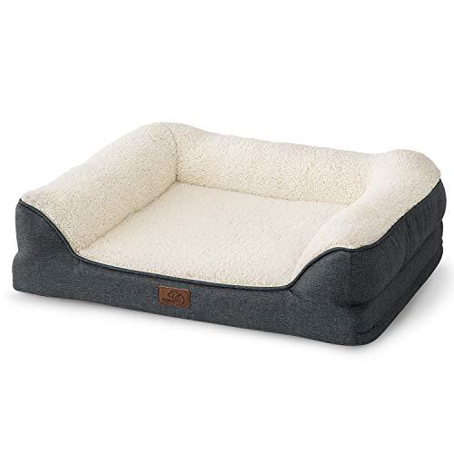 Bedsure Hundesofa Hundecouch für kleine/mittlere/große Hunde, Hundebett mit Memory Schaum orthopädisch...