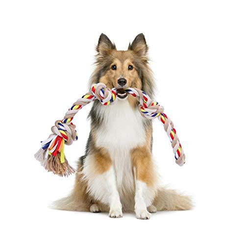 Nobleza - Hundespielzeugseil aus 100% Baumwolle, das der psychischen Gesundheit des Hundes zugute kommt...