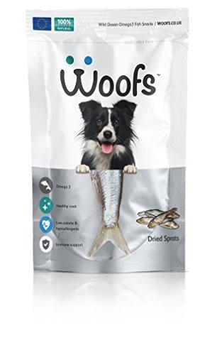 WOOFS Sprats Hundeleckerlis – für das Training von Hunden – Wiederverwendbare Leckerli-Beutel, 125 g