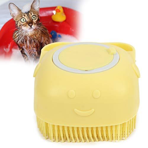 Jopwkuin Katzen- und Hundemassagebürste, weiche und Bequeme Hundepflegebürste zum Waschen für das...