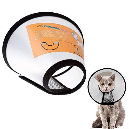 SHONCO Halskrause für Haustiere Schutzkragen Kegel,Kegel Krägen aus Kunststoff,zur Heilung von...