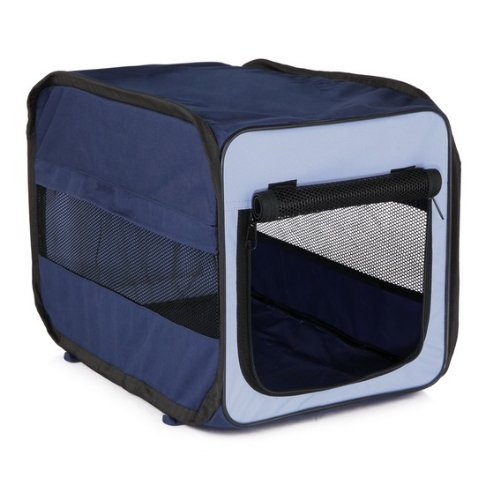 Trixie 39693 Mobile Kennel Twister, S–M: 50 × 52 × 76 cm, dunkelblau/hellblau