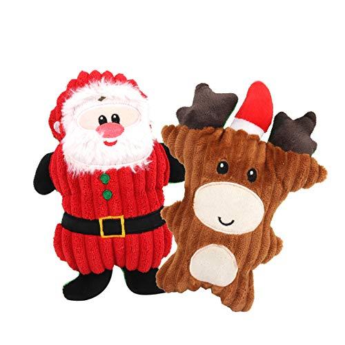 Hund Weihnachten Spielzeug,Quietschspielzeug,Interaktive Kauen Spielzeug,Hundespielzeug,Plüsch...