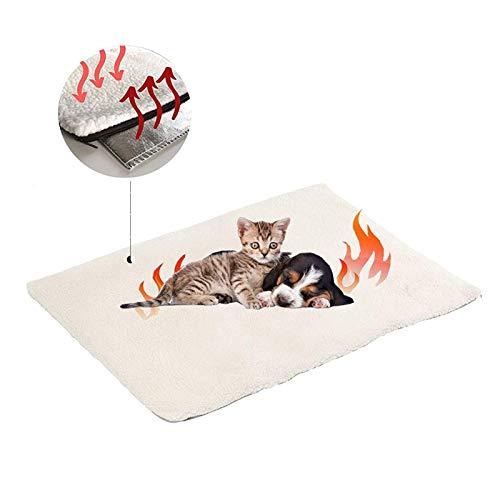 Selbstheizende Decke für Katzen & Hunde, Wärmedecke für Katzen und Hunde,Umweltfreundliche...