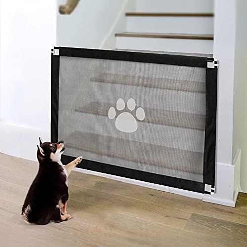 PETLESO Treppenschutzgitter für Hunde Hundeschutzgitter Installieren Absperrgitter Tür 80X100 CM