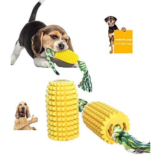 Hundespielzeug UnzerstöRbar Mais,MaisföRmig HundezahnbüRste Aus Naturkautschuk,ZahnäRztliche...