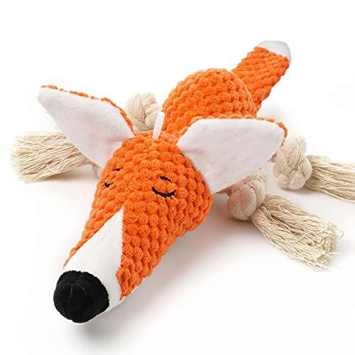 Sedioso Plüsch-Hundespielzeug, interaktiv, gefüllter Fuchs, Hundespielzeug gegen Langeweile,...