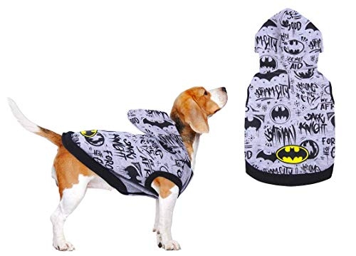 BATMAN Hunde Pullover, Katzen Sweater, Haustier Hoodie, Welpen Kleidung, Bequeme Atmungsaktive Leichte...