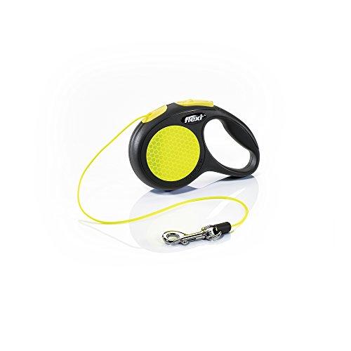 flexi New NEON XS Seil 3 m schwarz/neongelb für Hunde bis 8 kg