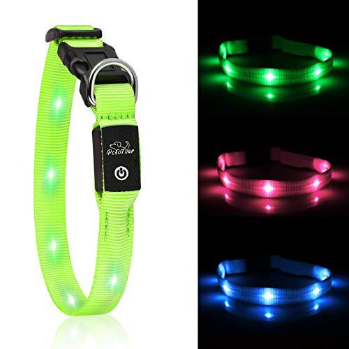 PcEoTllar LED Hundhalsband Leuchthalsband Klein Hund Leicht USB Wiederaufladbar Einstellbar Super Hell...