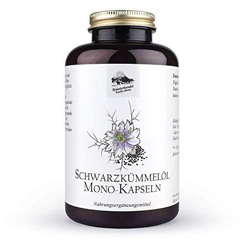 KRÄUTERHANDEL SANKT ANTON® - Schwarzkümmelöl Kapseln - Hochdosiert - Vitamin E - Deutsche Premium...