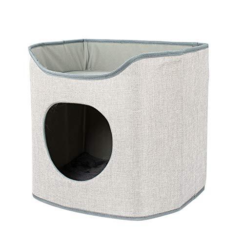 Mehrschichtiger Faltbarer Haustierstreu, Katzenstreu Katzenhöhle Katzensprungplattform,...