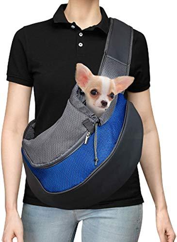 DMSL Tragetuch Hund, Katze Haustier Hundetragetasche EinstellbarTräger Schulter Beutel Atmungsaktiv Mesh...