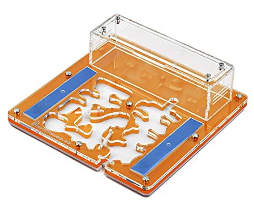 AntHouse | Ameisenfarm 20 x 20 x 1'3 cm | Acryl Educational Kit | Terrarium mit Freie Ameisen | Orange