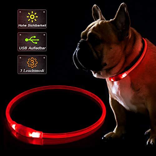KABB LED Hundehalsband, USB Wiederaufladbares Blinkhalsband für die Sicherheit bei Nacht, Verstellbares,...