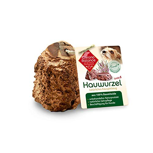 ChronoBalance® Kauwurzel S für Hunde aus Baumheide - 100% Naturprodukt ohne Zusätze - dauer...