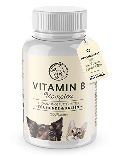Annimally Vitamin B Komplex Hund 120 Tabletten für bis zu 4 Monate I Vitamin B12 für Hunde und Katzen...