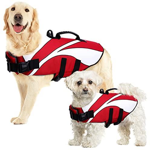 SUNFURA Schwimmweste für Hunde mit Auftrieb und Rettungsgriff, Ripstop-Welpen, Rettungsweste für...