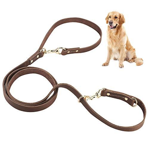Zoegate Hundeleine Verstellbare Führleine für Hunde Hundeleinen mit Messing-Schnalle mehrfach...