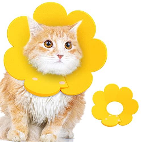 RosewineC Halskrause Katzen, Schutzkragen Katze Halskrause Haustiere Verstellbares Weiches Halsban...