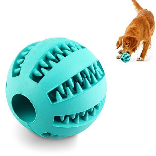 AEITPET Hundeball Snackball aus Naturkautschuk Hundespielzeug Unzerstörbar Ball mit Leckerli befüllbar...
