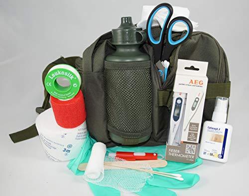 apotier24 1.-Erste-Hilfe-Set speziell für den Hund (mit 0,5 l-Flasche)-Oliv -– enthält NUR notwendige...