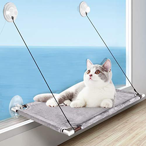 Katzen Fensterplatz, Katzen Hängematte Für Große Katze in Innenräumen, Window Lounger Katzen mit 4...