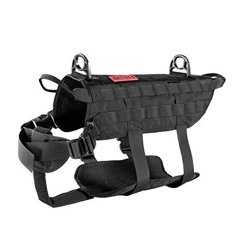 OneTigris Power Rocket K9 Taktische Hundeweste Hunde Harness MOLLE Verstellbar Hundegeschirr für Service...