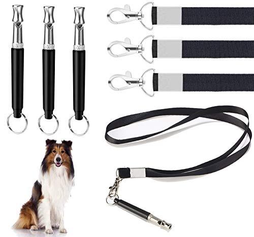 Hundepfeife mit Pfeifengurt, 3-teilig Professionelle Ultraschallpfeife Hochfrequenz einstellbar mit...