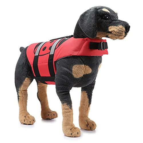 Hunde Rettungsweste mit Rettungsgriff, Dog Life Jacket, Reißfeste Hundeschwimmweste, Verstellbare...