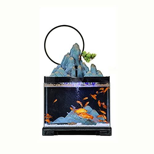 JJWC Glas Kleiner Aquarium Aquarium Landschaft Pflanzen Klassische Landschaft Haushaltsdekoration...