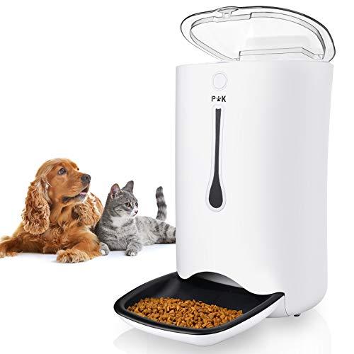 PUPPY KITTY Automatischer Futterautomat für Katze und Hund, 7L Futterautomat Katze mit Timer-Zuführung,...