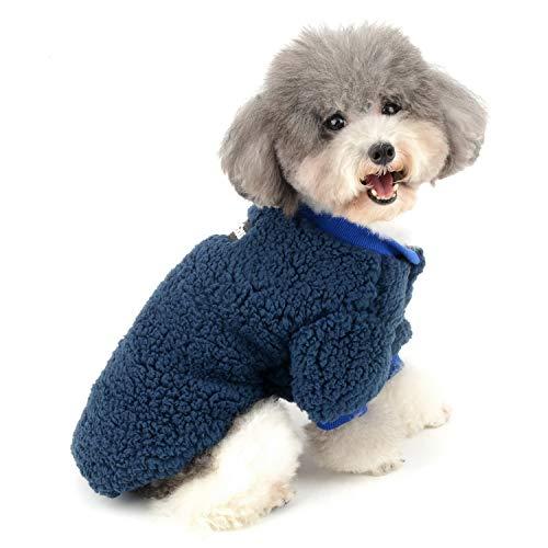 Zunea Wintermäntel für kleine Hunde Fleece Warm Hundepullover Sweater Welpen Winterjacke Chihuahua...