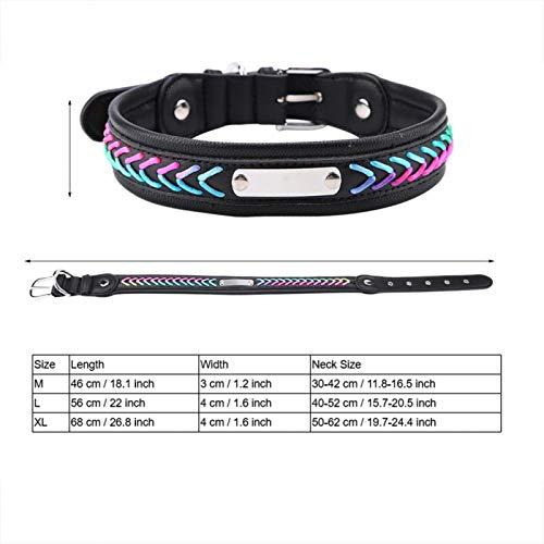 FOLOSAFENAR Verstellbares, personalisiertes Hundehalsband für mittlere und große Hunde, Hundehalsband...