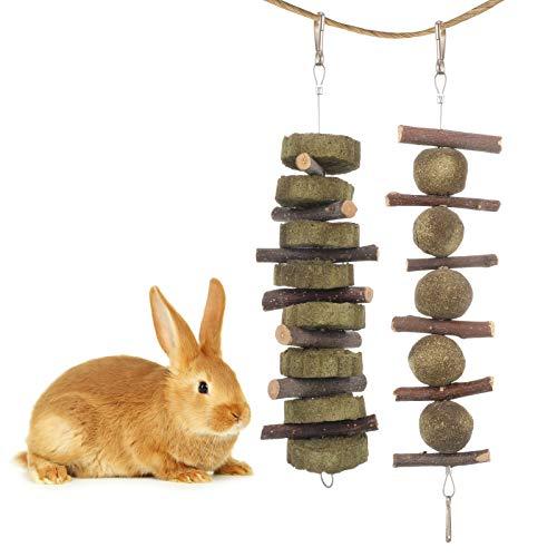 Xinstroe 2 Stück Kauspielzeug für kleine Haustiere, Kaninchen Hasenzähne Reinigungsspielzeug mit...