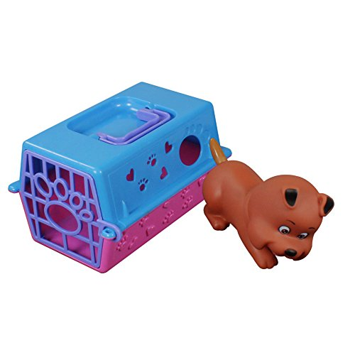 com-four Hunde-Transportbox mit Spielzeug Hund, Lernspielzeug auch für andere Kuscheltiere wie Katze,...
