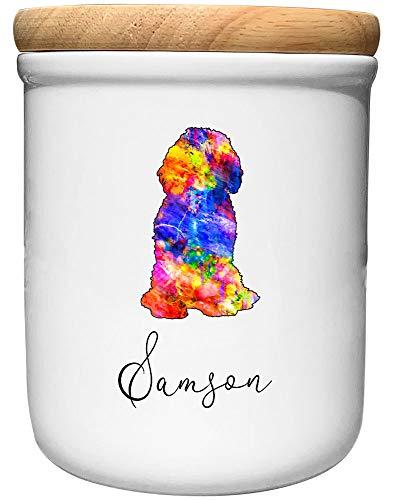 Cadouri Keramik Leckerli-Dose Doodle » personalisiert mit Name deines Hundes «┊Snackdose Keksdose...