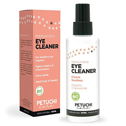 PETUCHI Augentropfen für Hunde; Reinigung und Linderung; 100% Bio Augenreiniger für Hunde; feiner...