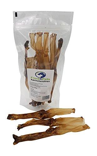 Food4Pets Kaninchenohren Hundeleckerli 8 Stück - Kauohren im wiederverschliessbaren Beutel