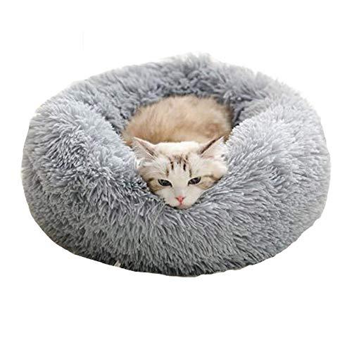 Cozywind rundes Haustierbett für kleinen Hund und eine Katze Hellbraun Warmes Kissen oder deluxes Bett...