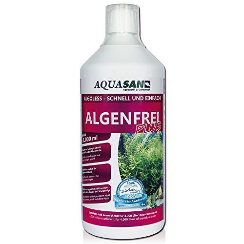 AQUASAN Aquarium ALGOLESS Algenfrei Plus (Aquarium Algenvernichter, Algenentferner - Gegen nahezu alle...