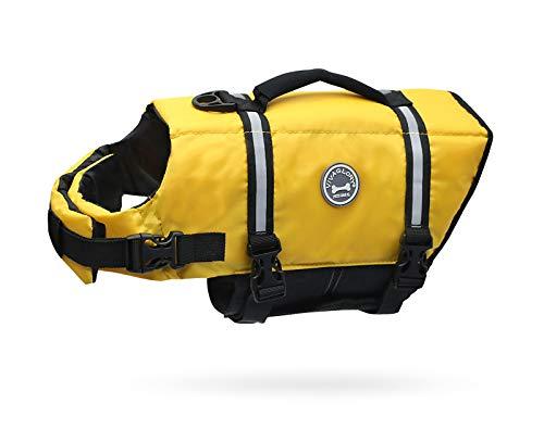 VIVAGLORY Schwimmweste für Hunde Ripstop & Reflektierende, Größenverstellbar mit Starkem Auftrieb und...