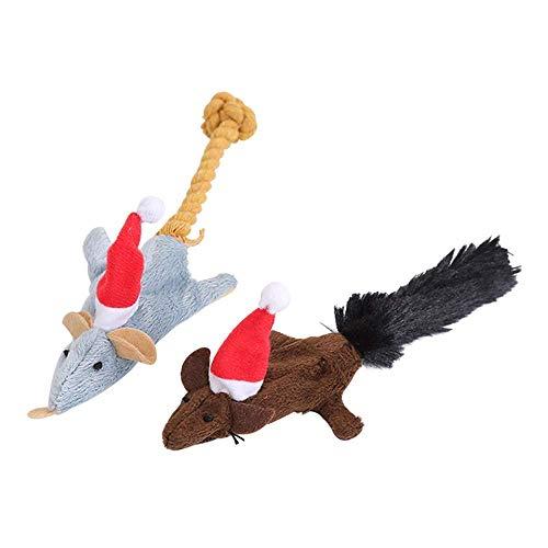 ADIE Hunde Plüsch Spielzeug 2 stücke Haustier Trittspiel Spielzeug Hund Sound Spielzeug Mäuse geformt...