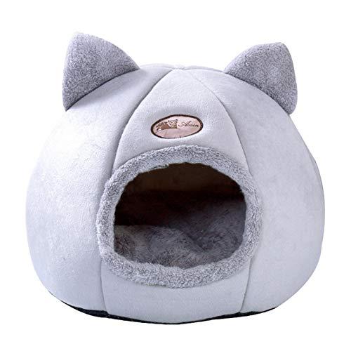 Kaijia Weicher Katzenschlafsack / Hundehöhle, 3 Größen, Grau