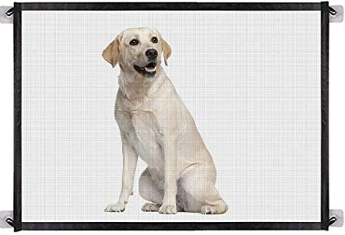 BTkviseQat Hundebarrieren,Tragbar Hunde Türschutzgitter,Faltbar Hundeschutzgitter, Absperrgitter...