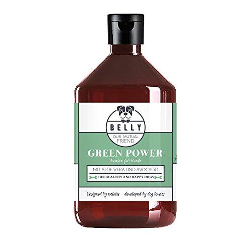 Hundepflege Shampoo Green Power von Belly 500 ml Flasche I Natürliches Pflegeshampoo mit Aloe Vera und...